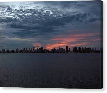 Cartagena Colombia At Sunset Canvas Print by Janet  Hall