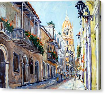 Cartagena Colombia Canvas Print by Alexandra Maria Ethlyn Cheshire