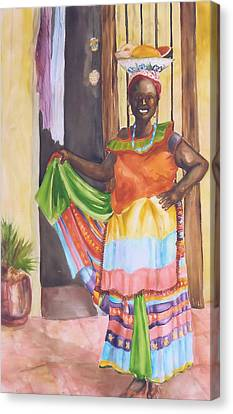 Cartegena Woman Canvas Print