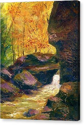 Canvas Print featuring the painting Carter Caves Kentucky by Gail Kirtz
