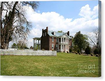 Carnton Plantation Canvas Print - Carter House And Carnton Plantation by John Black