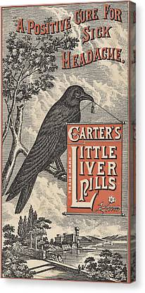 Carter's Little Liver Pills Ephemera Canvas Print by Black Brook Photography