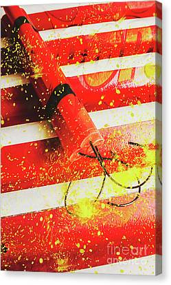 Cartoon Bomb Canvas Print by Jorgo Photography - Wall Art Gallery