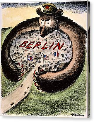 Cartoon: Cold War Berlin Canvas Print by Granger