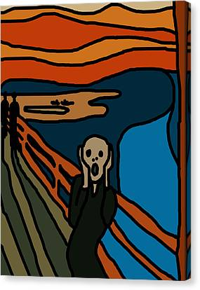 Cartoon Scream Canvas Print by Jera Sky
