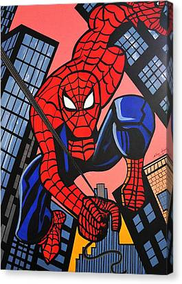 Cartoon Spiderman Canvas Print