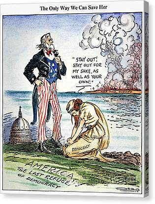 Cartoon: U.s. Intervention Canvas Print by Granger