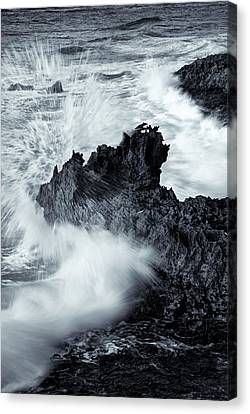 Carved By The Sea Canvas Print by Mike  Dawson