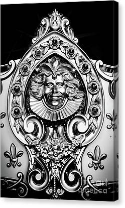 Woodcarving Canvas Print - Carved Carousel Figurehead by Colleen Kammerer