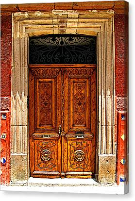 Carved Doors Canvas Print by Mexicolors Art Photography