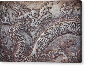 Carved Dragon Canvas Print by Carol Groenen