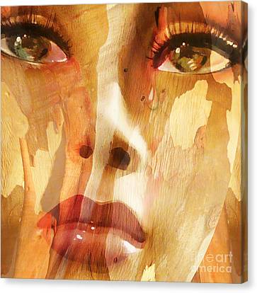 Carved Emotions Canvas Print by Jacky Gerritsen