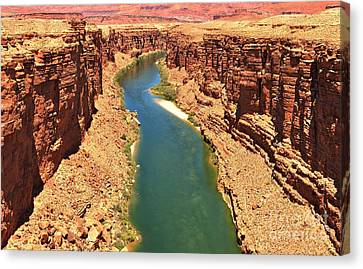Carving The Canyon Canvas Print by Adam Jewell