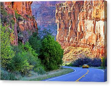 Carving The Canyons - Unaweep Tabeguache - Colorado Canvas Print by Jason Politte