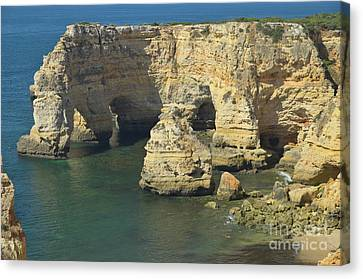 Travel Canvas Print - Carvoeiro Cliffs And Sea 2 by Angelo DeVal