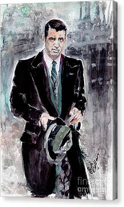 Cary Grant Classic Movies Actors Canvas Print by Ginette Callaway