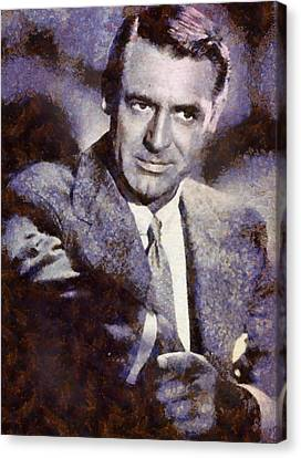 Cary Grant Hollywood Actor Canvas Print by Esoterica Art Agency