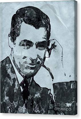 Cary Grant Hollywood Actor Canvas Print by Mary Bassett