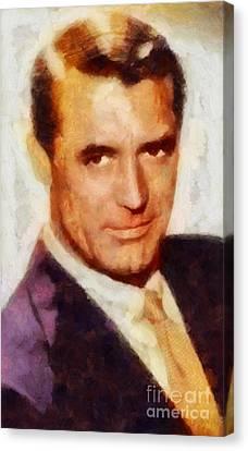 Cary Grant Hollywood Actor Canvas Print by Sarah Kirk