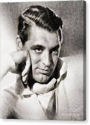 Cary Grant, Hollywood Legend By John Springfield Canvas Print by John Springfield