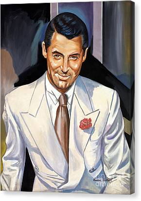 Cary Grant Canvas Print by Spiros Soutsos