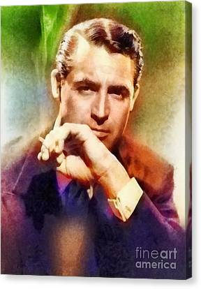 Cary Grant, Vintage Hollywood Actor Canvas Print by Frank Falcon