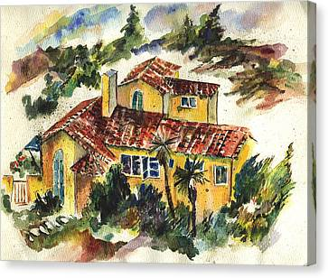 Casa Amarillo Canvas Print by Lily Hymen