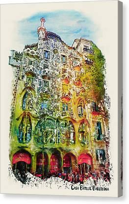 Casa Batllo Barcelona Canvas Print