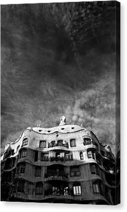 Casa Mila Canvas Print by Dave Bowman