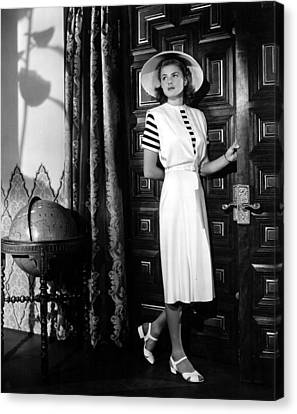 Casablanca, Ingrid Bergman Wearing Canvas Print