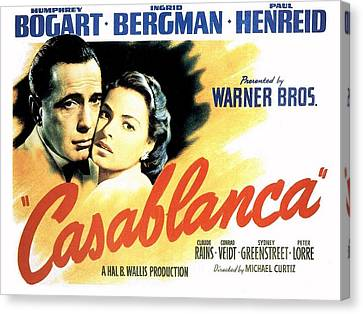 Casablanca Canvas Print by Movie Poster Prints