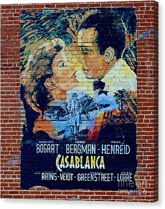 Canvas Print featuring the photograph Casablanca Mural 2013 by Padre Art