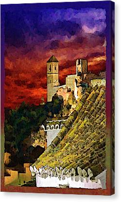 Rooftop Canvas Print - Casares Rooftops by Chris North