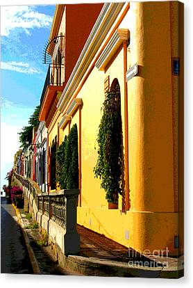 Casas On The Hill By Darian Day Canvas Print by Mexicolors Art Photography
