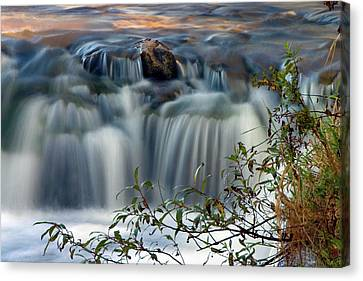 Cascade At Sunrise Canvas Print by Timothy McIntyre