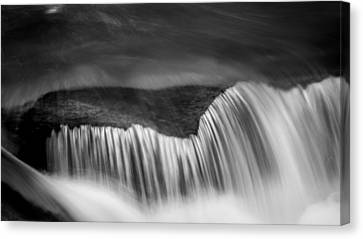 Cascade - Black And White Canvas Print