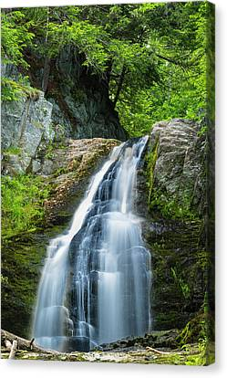 Canvas Print featuring the photograph Cascade Falls In South Portland In Maine by Ranjay Mitra