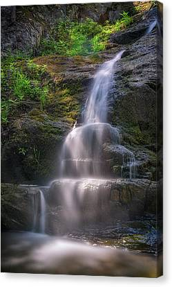 Canvas Print featuring the photograph Cascade Falls, Saco, Maine by Rick Berk