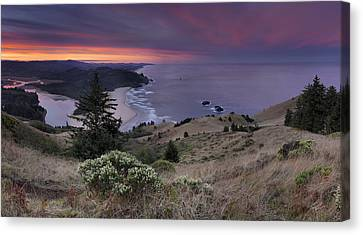 Cascade Head Scenic Area Canvas Print by Leland D Howard