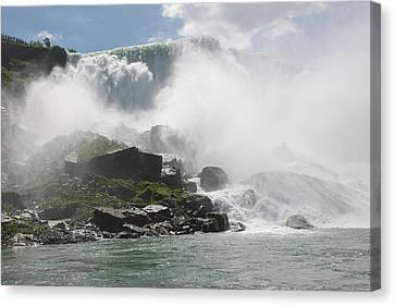 Canvas Print featuring the photograph Cascade Of Niagra Falls by Jeff Folger