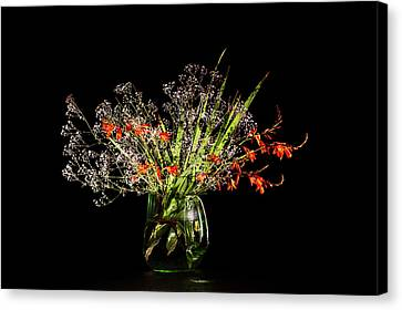 Cascade Of White And Orange. Canvas Print by Torbjorn Swenelius