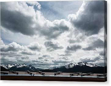 Canvas Print featuring the photograph Cascade Outlook Manning Provincial Park by Elvira Butler