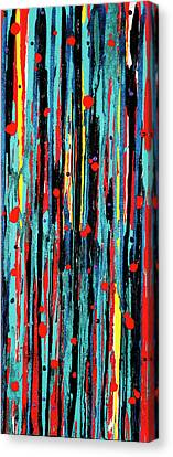 Canvas Print featuring the painting Cascade Pour by Carolyn Repka