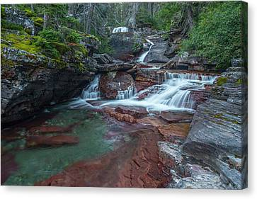 Canvas Print featuring the photograph Cascades by Gary Lengyel