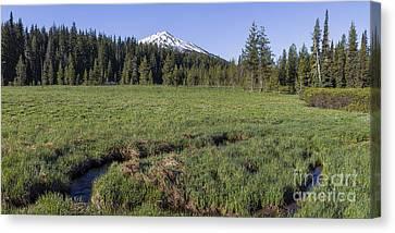 Sunriver Canvas Print - Cascades Meadow by Twenty Two North Photography