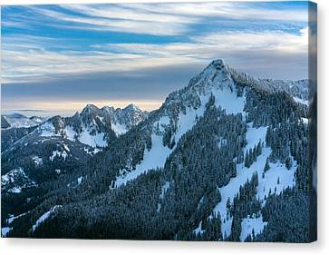 Cascades Mountain Range Closeup Canvas Print by Mike Reid