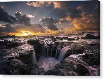 Cascades Of Kauai II Canvas Print by Todd Kawasaki