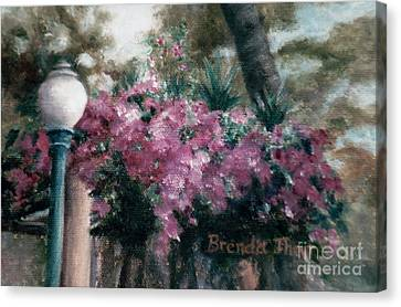 Canvas Print featuring the painting Cascading Flowers by Brenda Thour