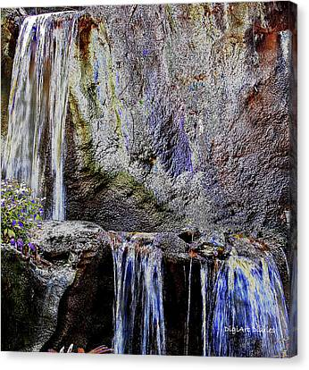 Cascading Water Solarized Canvas Print by DigiArt Diaries by Vicky B Fuller