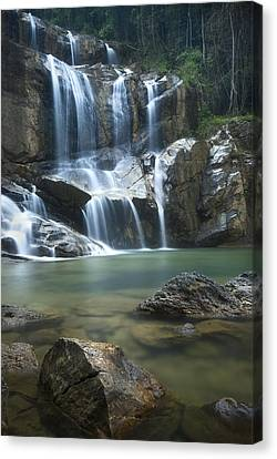 Canvas Print featuring the photograph Cascading Waterfalls by Ng Hock How